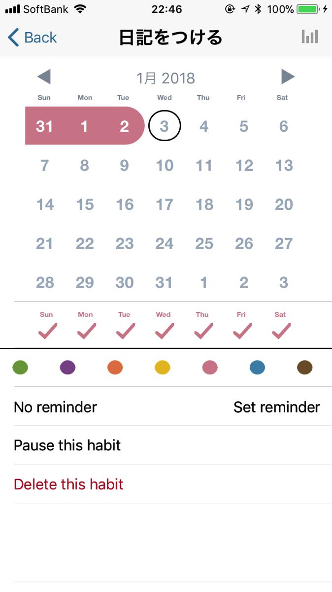 good habits個別項目